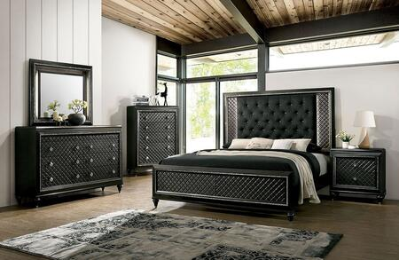 Furniture of America Demetria CM7584XBED Bed Gray, 1