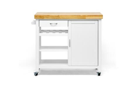 RT185-OCC Baxton Studio Denver Modern Kitchen Cart In