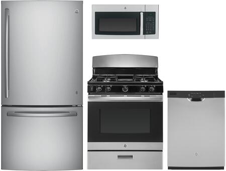 GE  1137691 Kitchen Appliance Package Stainless Steel, main image