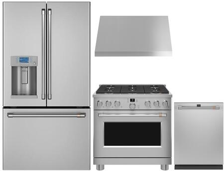 Cafe  1053451 Kitchen Appliance Package Stainless Steel, Main image