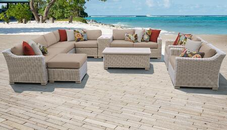 TK Classics COAST12BWHEAT Outdoor Patio Set, COAST 12b WHEAT