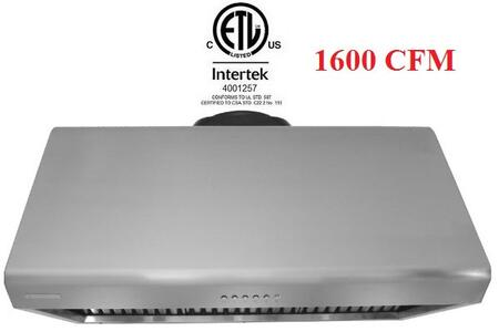 XtremeAir Deluxe DL09W48 Under Cabinet Hood Stainless Steel, Range Hood Front