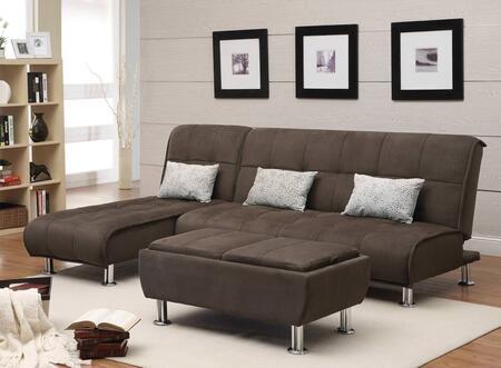 Coaster Sofa Beds 300276SET Living Room Set Brown, 3 PC Set