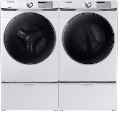 Samsung  1010827 Washer & Dryer Set White, 1