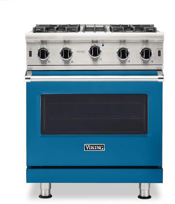 Viking 5 Series VGIC53024BABLP Freestanding Gas Range Blue, VGIC53024BABLP Gas Range