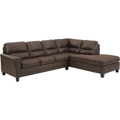 Signature Design by Ashley Navi 940036617 Sectional Sofa Brown, Main Image