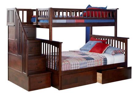 Atlantic Furniture Columbia AB55744 Bed Brown, AB55744 SILO BD2 30