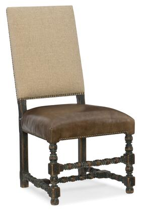 Hooker Furniture Hill Country 596075410BLK Dining Room Chair Brown, Silo Image