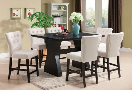 Acme Furniture Effie 71520B Bar Table Set Brown, 7 PC Set