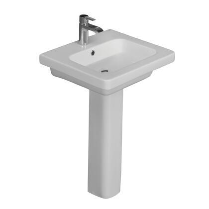 3-1081WH Resort 650 Pedestal Lavatory  White-1