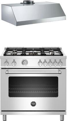 Bertazzoni  1000079 Kitchen Appliance Package Stainless Steel, 1