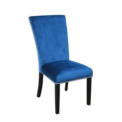 Steve Silver Camila CM540SBN Dining Room Chair Blue, Main Image