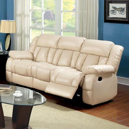 Furniture of America Barbado CM6827SF Motion Sofa Beige, Main Image