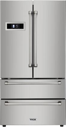 Thor Kitchen  HRF3601F French Door Refrigerator Stainless Steel, HRF3601F 4 Door French Door Refrigerator
