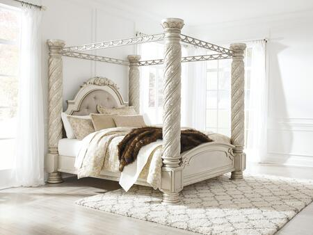 Signature Design by Ashley Cassimore B750CANOPYBED Bed Silver, 1