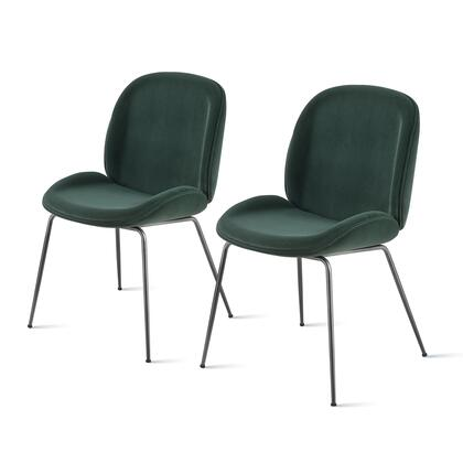 9300051-360 Lucy Velvet Fabric Chair Set of 2  in Gallery Dark