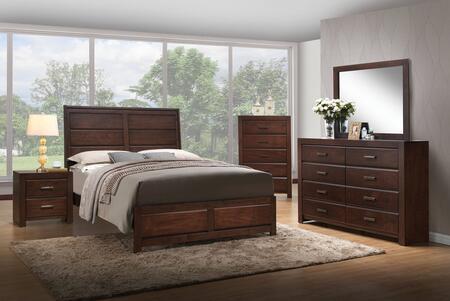 Acme Furniture Oberreit 25787EKSET Bedroom Set Brown, 5 PC Bedroom Set