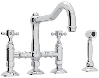 Rohl Italian Country Kitchen A1458XMWS2 Faucet, 1