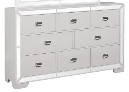 Cosmos Furniture Grand Gloria 1072CHGRA Dresser White, DL 7f5a49d4efb0cee039bb23348840