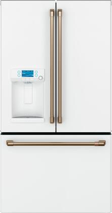 Cafe Customizable Professional Collection CFE28TP4MW2 French Door Refrigerator White, Front View