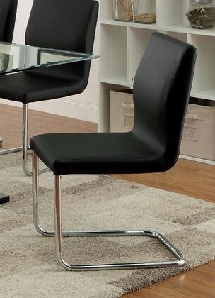 Furniture of America Luminar CM3825BKSC2PK Dining Room Chair Black, Main Image