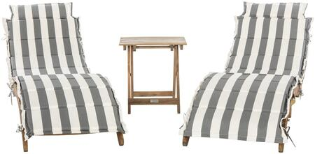 Safavieh Pacifica PAT7020A Lounge Chair White, pat7020a set