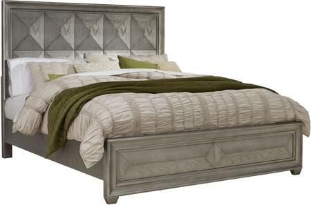 Global Furniture USA Global Furniture USA SOHOSILVERQB Bed Silver, soho silver qb 1