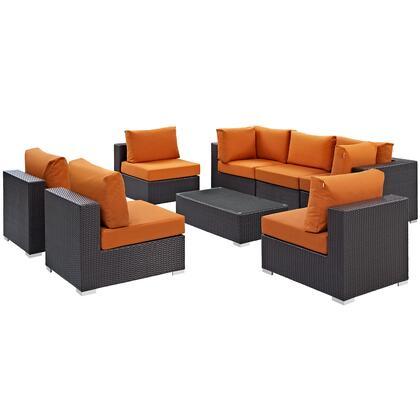 Modway Convene EEI2205EXPORASET Outdoor Patio Set Orange, Main Image