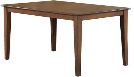 Sunset Trading Simply Brook DLUBR4272AM Dining Room Table Brown, DLUBR4272AM Main View