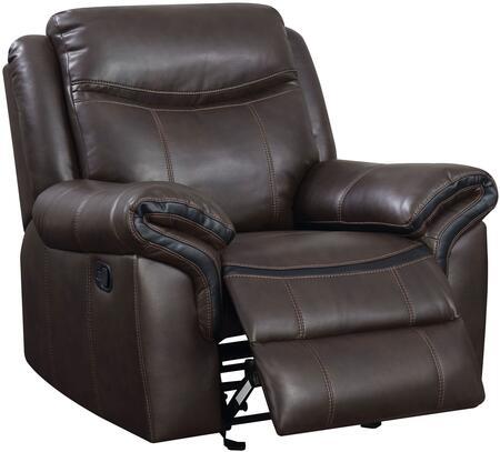 Furniture of America Chenai CM6297CH Recliner Chair Brown, Main Image
