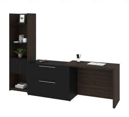 Bestar Furniture Small Space 1685579 Desk Brown, 1685579