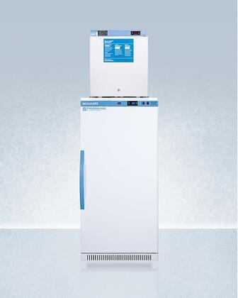 AccuCold  ARS8PVFS24LSTACKMED2 Top Freezer Refrigerator White, ARS8PVFS24LSTACKMED2 Refrigerator and Freezer Combination