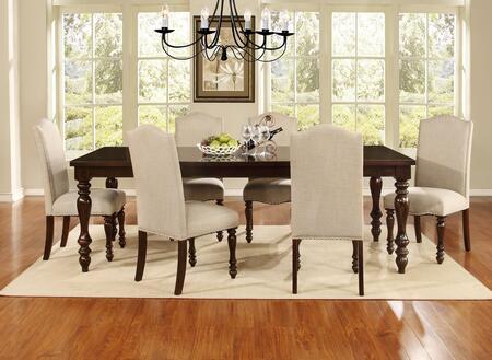 Myco Furniture Palisades PA630T7SET Dining Room Set Brown, 7 PC Set