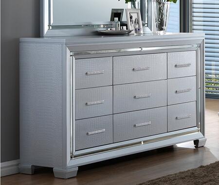 Myco Furniture Luca LU735DR Dresser Silver, 1