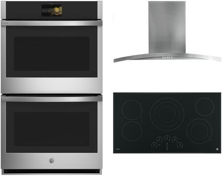GE Profile  1107707 Kitchen Appliance Package Black, Main Image