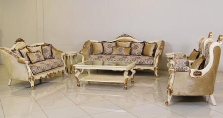 European Furniture Paris 37008SLC Living Room Set Beige, Main Image