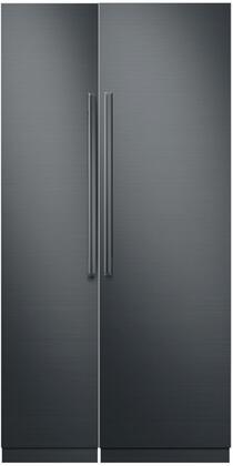 Dacor Contemporary 775933 Column Refrigerator & Freezer Set Graphite Stainless Steel, 1