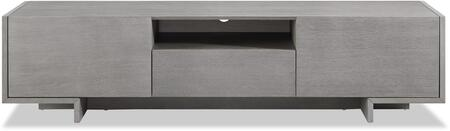 Whiteline Noah EC1463GRY 52 in. and Up TV Stand Gray, EC1463-GRY front