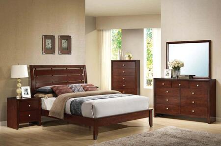 Acme Furniture Ilana 20397EK5PCSET Bedroom Set Brown, 1