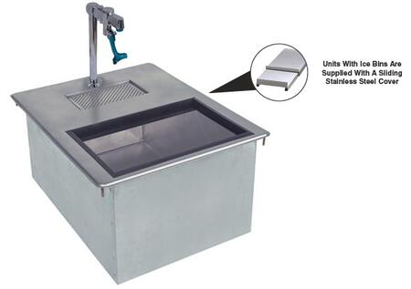 Advance Tabco  D24WSIBL2X Commercial Drop in  Weld In and Undermount Sink Stainless Steel, 18 x 21 Water Station
