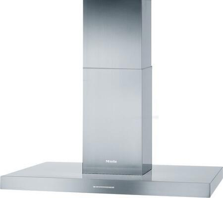 "Miele PUR98D Island Mount Range Hood Stainless Steel,  Miele PUR98D 36"" in Stainless Steel Front  view"