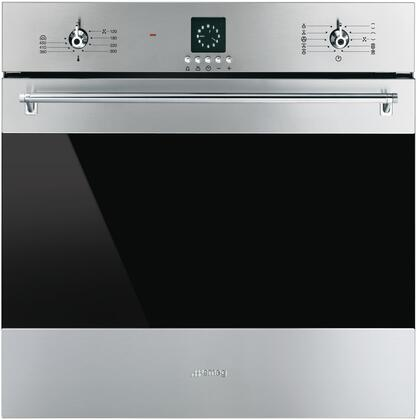 Smeg Sf399xu 24 Inch Clic Single Wall Oven With 10 Cooking
