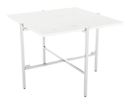 Zuo Titan 101682 End Table White, 101682 1