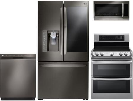LG 1115473 Kitchen Appliance Package & Bundle Black Stainless Steel, main image