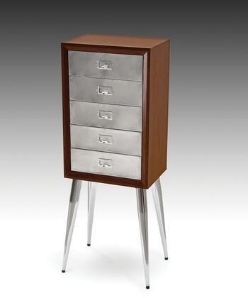 Acme Furniture Gannon 97209 Jewelry Armoire Silver, 1