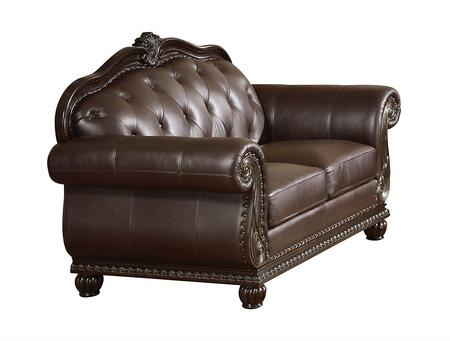 Acme Furniture Anondale 15031 Loveseat Brown, 15031 Side