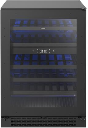 PRW24C02BPG 24″ Panel Ready Dual Zone Wine Cooler  Capacity 45 Bottles  Active Cooling Technology  3-Color LED Lighting in Cloud White  Deep Blue and