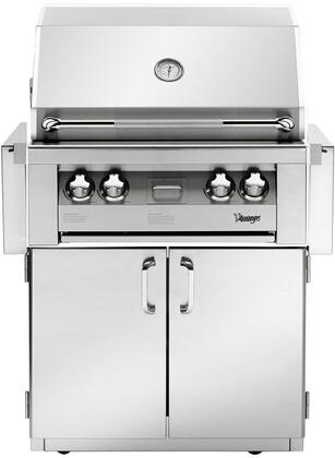 VBQ30G-N 30″ Built-In Natural Gas Grill  542 Sq. Inches Main Grilling Area  Smoker Burner And Rotisserie Burner  9V Precision Fire Electronic