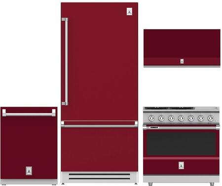 Hestan  963968 Kitchen Appliance Package Red, 1