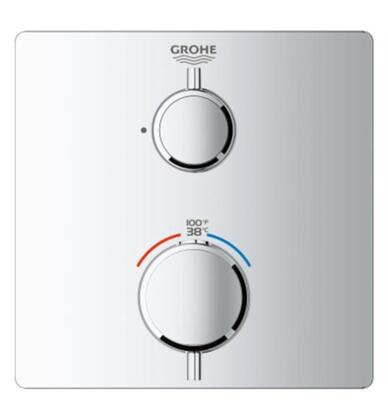 Grohtherm 24110000 Single Function 2-Handle Thermostatic Trim  in